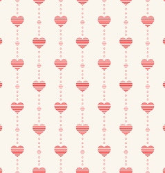 Abstract seamless pattern with pink hearts vector image