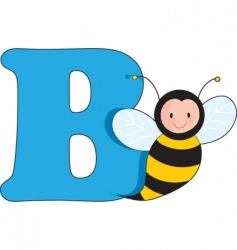 B is for bee vector