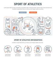 banner sport athletics vector image