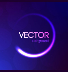 Blue abstract background with bokeh and glitter vector