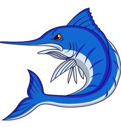 blue marlin cartoon vector image