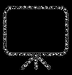 Bright mesh carcass presentation screen with light vector