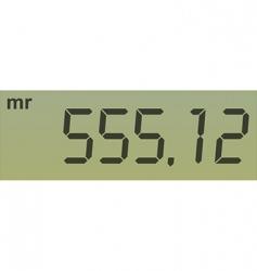 Calculator screen vector
