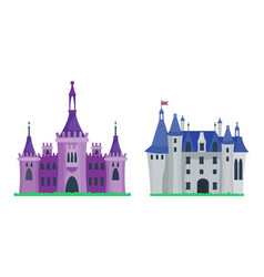 cartoon castle architecture vector image