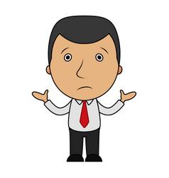 cartoon confused businessman vector image