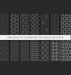 collection ornamental repeatable vector image