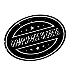 Compliance Secrets rubber stamp vector image