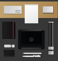corporate identity mock-up premium template vector image
