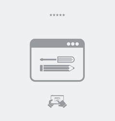 Custom assistance services icon vector