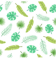 cute tropical leaves vector image
