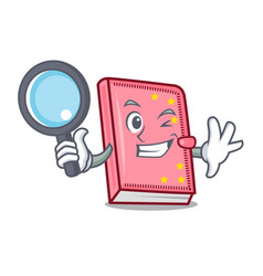 Detective diary character cartoon style vector