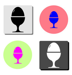 egg on stand flat icon vector image