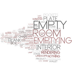 Emptying word cloud concept vector