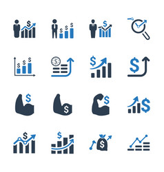 Financial strength icons vector