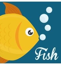 Fish figure design vector image