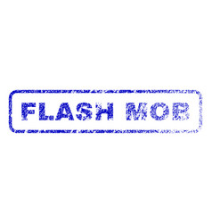 flash mob rubber stamp vector image vector image