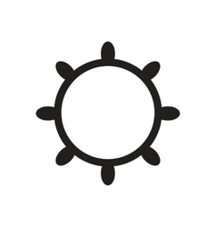 Flat icon in black and white ship wheel vector