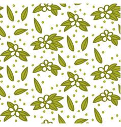 floral elements flower and leaf pattern vector image