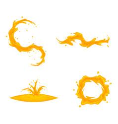flowing oil splash drop wave whirlpool vortex vector image