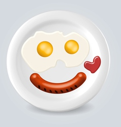 Food plate smile vector
