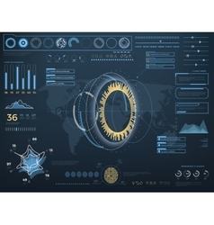 Future concept virtual touch user interface HUD vector