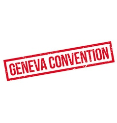 Geneva Convention rubber stamp vector