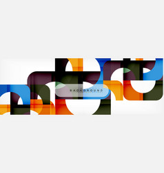geometric squares abstract banner vector image