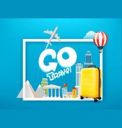 go travel concept with lettering inscription vector image