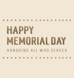 Happy memorial day background style vector
