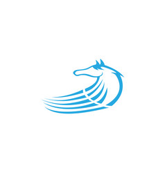 Horse head and steed or mare for logo design vector