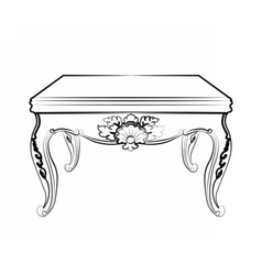 Imperial royal table with luxurious ornaments vector