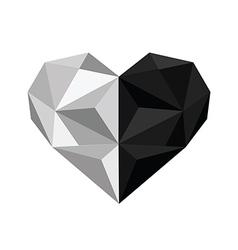 Ingyang origami heart vector