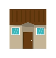 Isolated house with windows design vector image