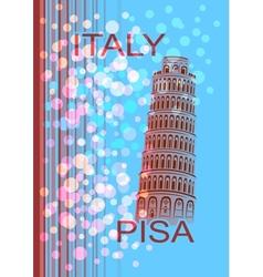 Italy Pisa vector
