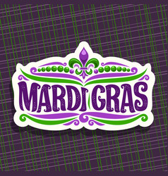 Logo for mardi gras carnival vector