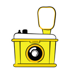 logo of the camera stylized camera for vector image