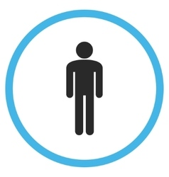 Man Flat Rounded Icon vector image