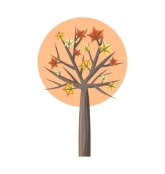Maple Tree with Falling Leaves vector