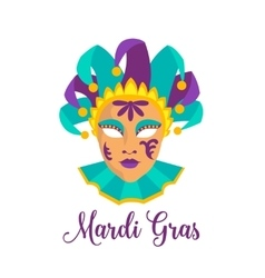 Mardi gras icon vector