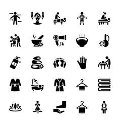 Massage icons set vector