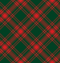 Menzies tartan green red kilt diagonal fabric vector