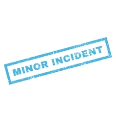 Minor Incident Rubber Stamp vector