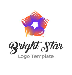 modern bright star logo design template modern vector image vector image