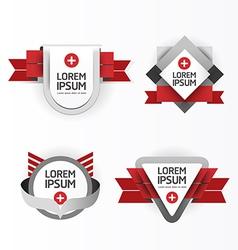 Modern design labels vector