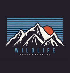 mountain typography graphics for slogan tee shirt vector image