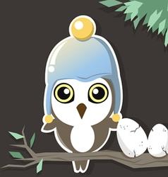 Owl in the dark vector