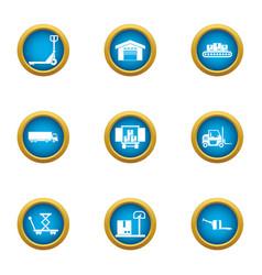 Procurement icons set flat style vector