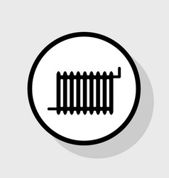radiator sign flat black icon in white vector image