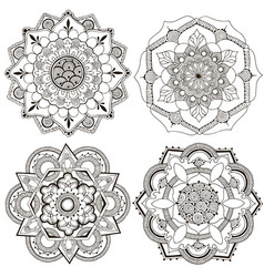 round decor in form an oriental ornament vector image