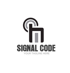 signal hand phone icons logo designs vector image